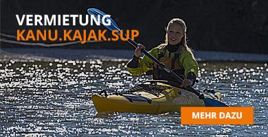 Kanu, Kajak oder Stand-Up-Paddle Boards mieten