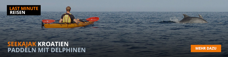 Seekajak fahren in Kroatien